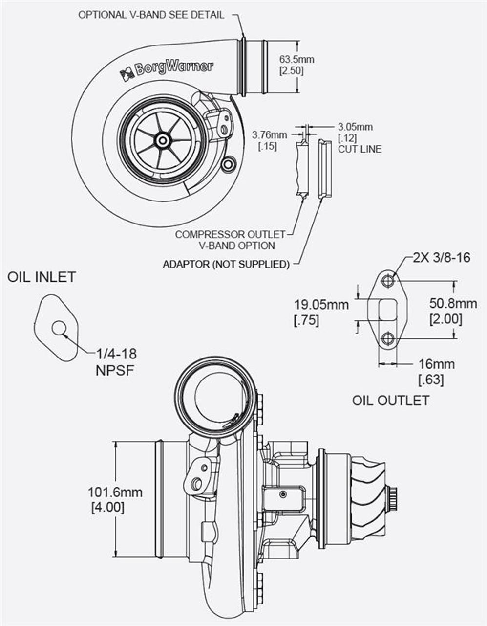 Borg Warner Turbo Super Core S300sx E