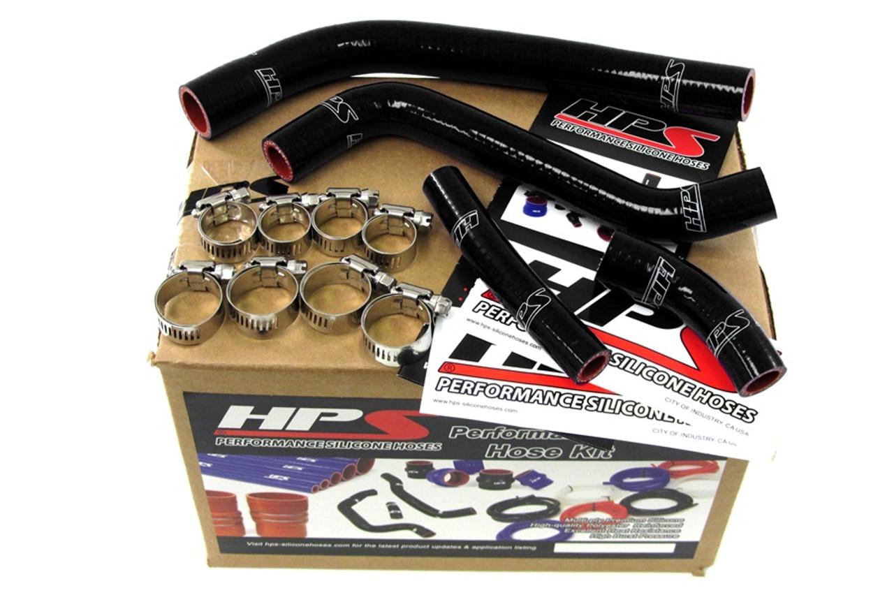 57-1262-BLK HPS Black Silicone Radiator Hose Kit for Yamaha YZ450F