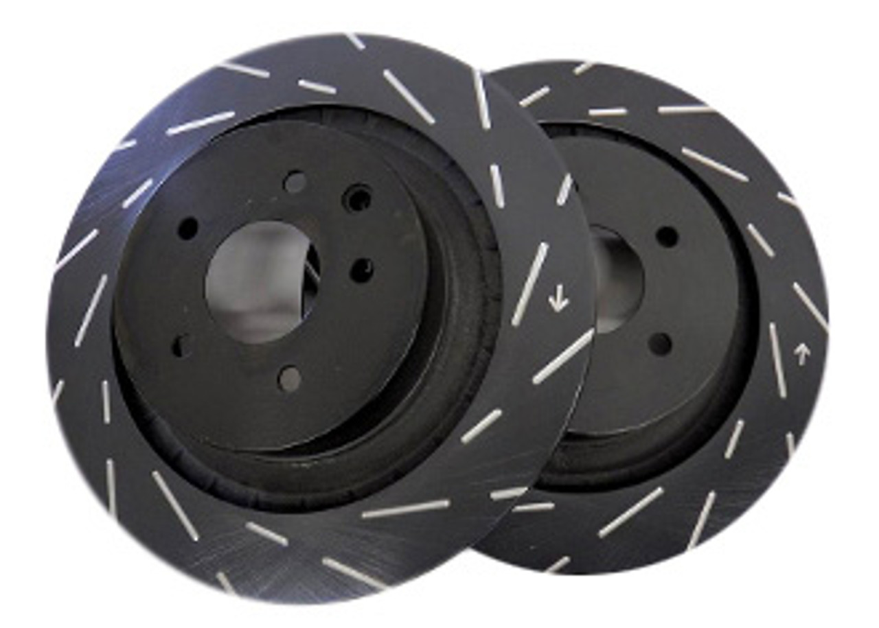 Pair Set of 2 Front Stoptech Slotted Disc Brake Rotors for Nissan 300ZX Base 2+2