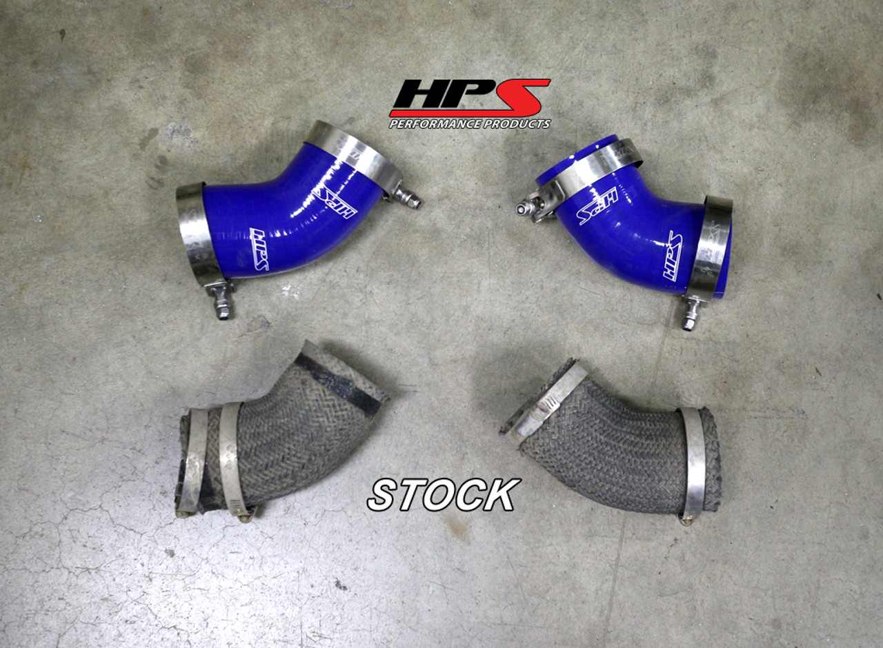 HPS Performance Black Reinforced Silicone Intercooler Hose Kit for  Mitsubishi 03-07 Lancer EVO 8 9 MR US-Spec