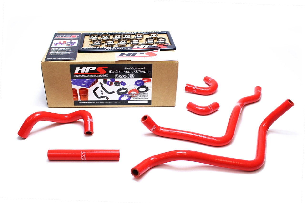 HPS Performance Reinforced Red Silicone Heater Hose Kit Coolant for Toyota  00-05 MR2 Spyder