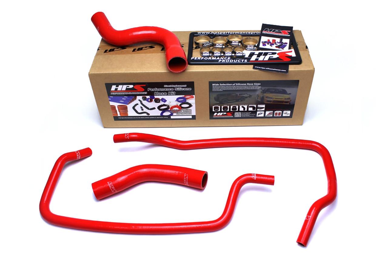 HPS 57-1449R-BLK WJ Black Silicone Radiator Hose Kit Coolant