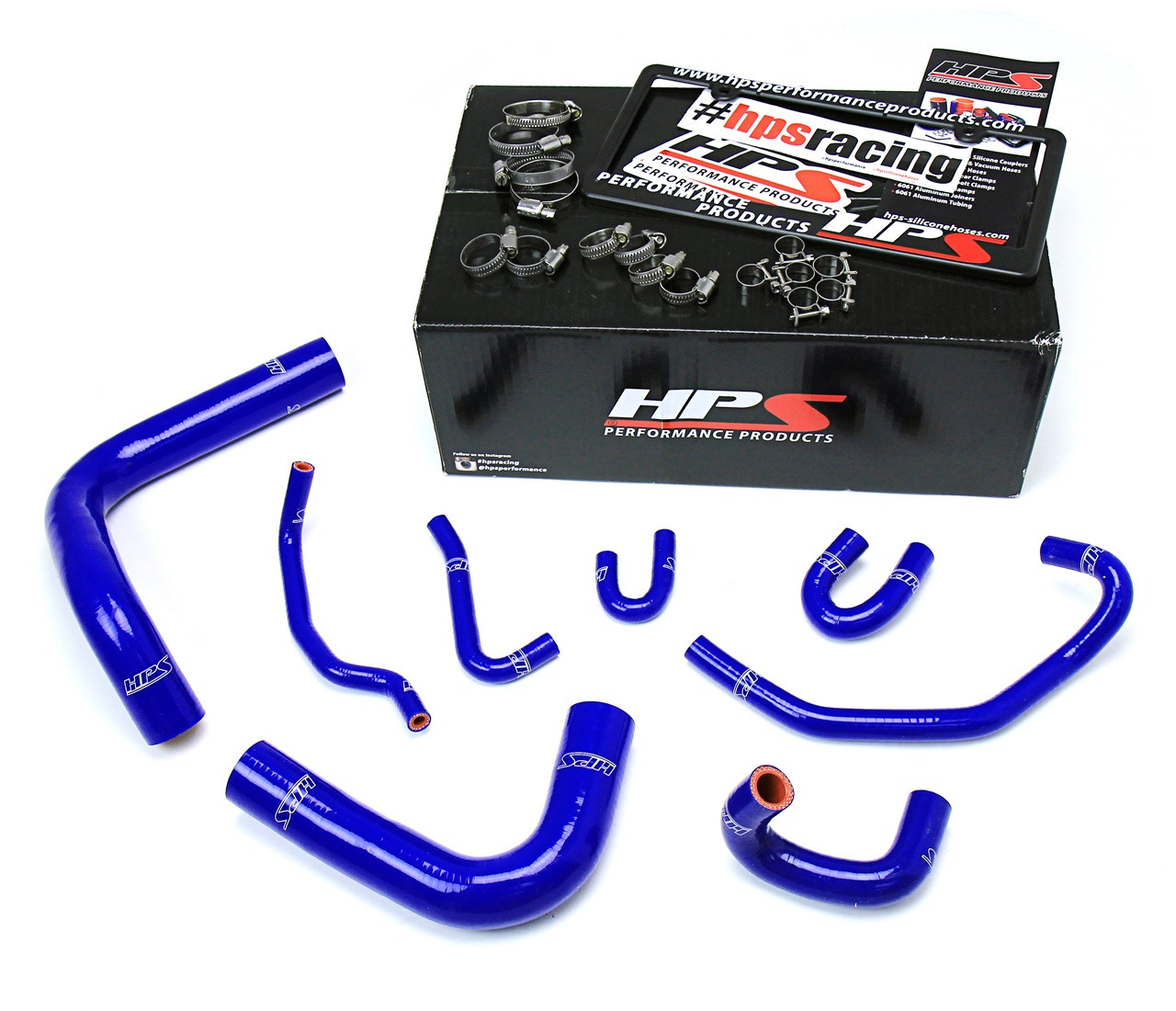 HPS 57-1323R-BLK Black Silicone Radiator Hose Kit Coolant