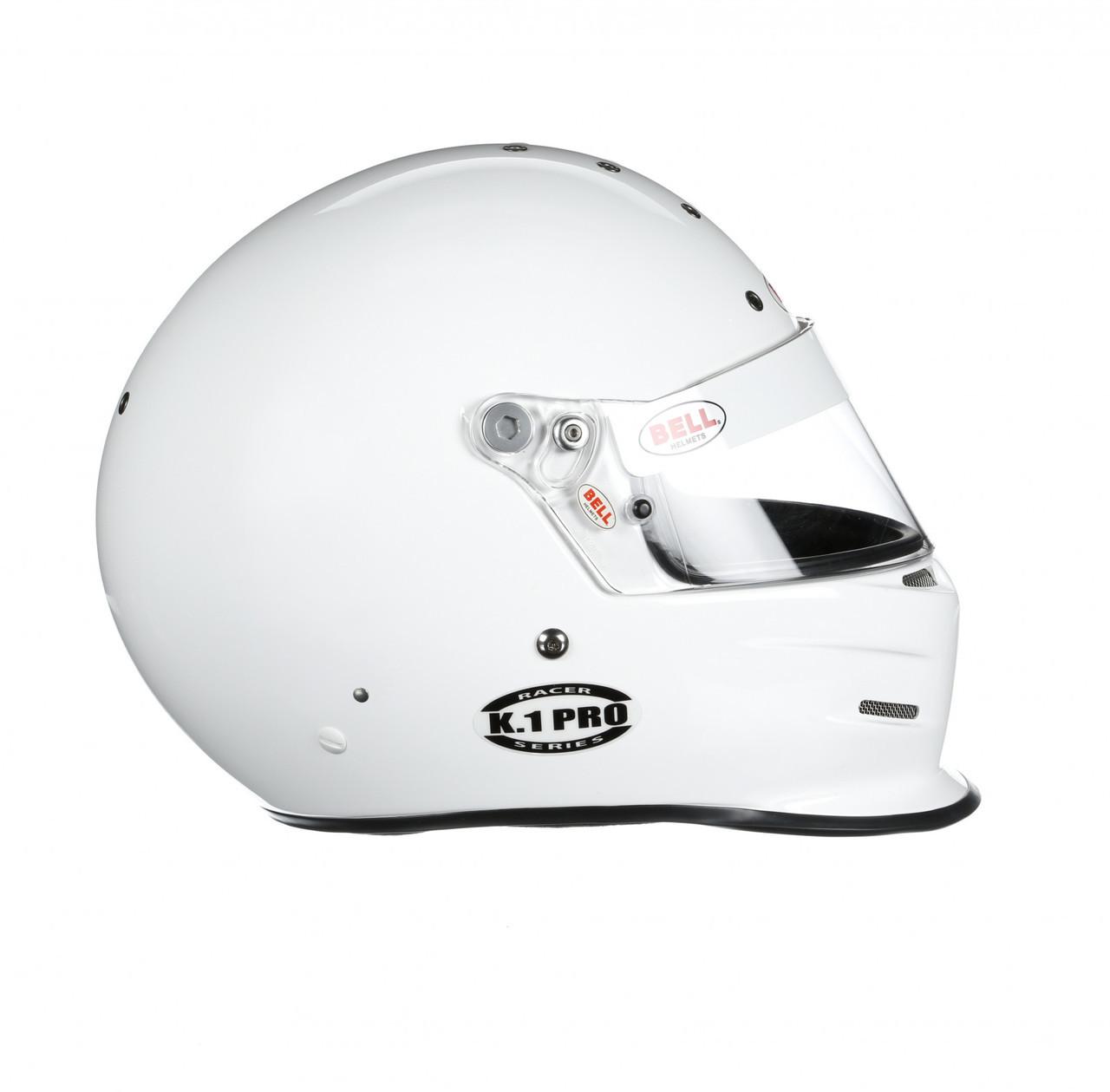 Bell Racing Helmets >> Bell K1 Pro Racing Helmet White Extra Large