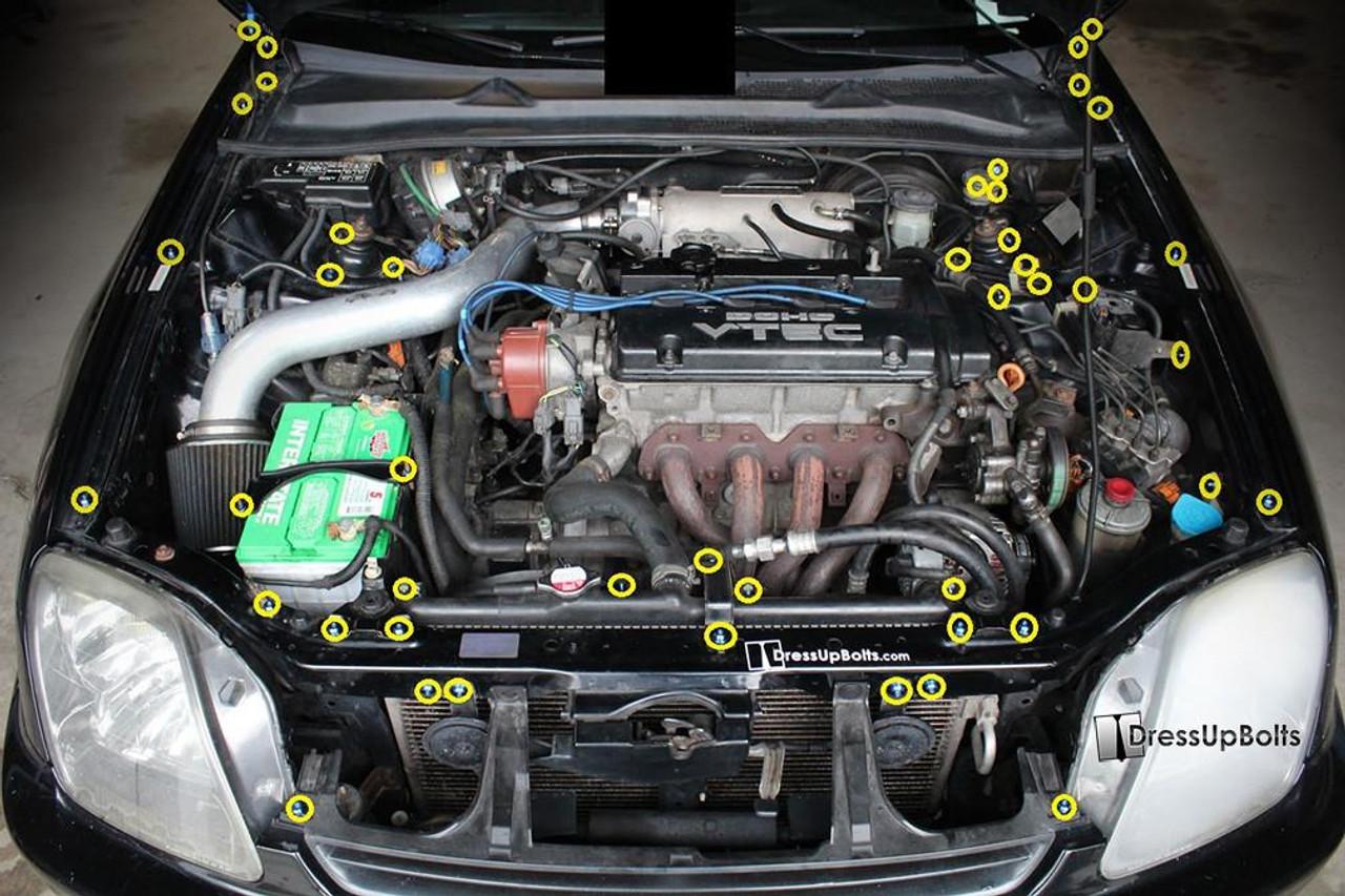 YAMAHA YZ85  STAINLESS ENGINE BOLT SET KIT POLISHED