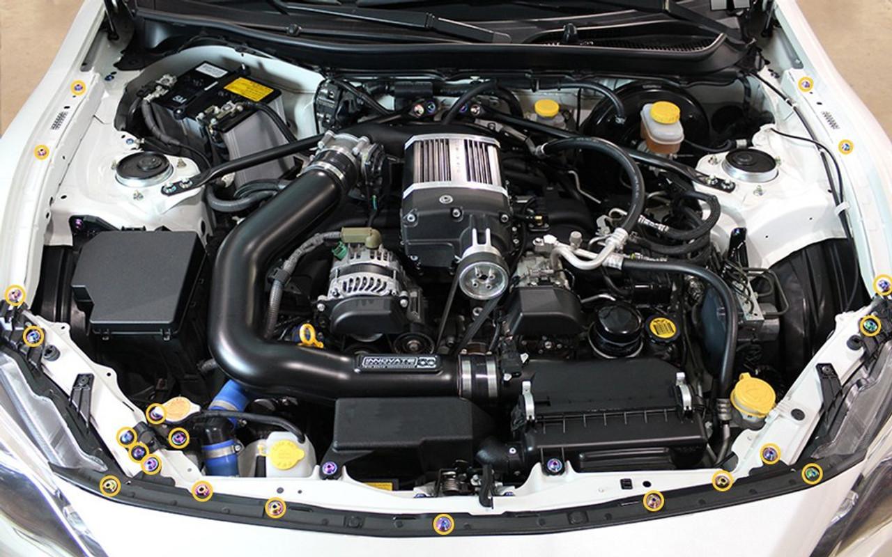 rx8 engine bay diagram dress up bolts titanium partial engine bay kit for toyota 86  2013  partial engine bay kit for toyota 86
