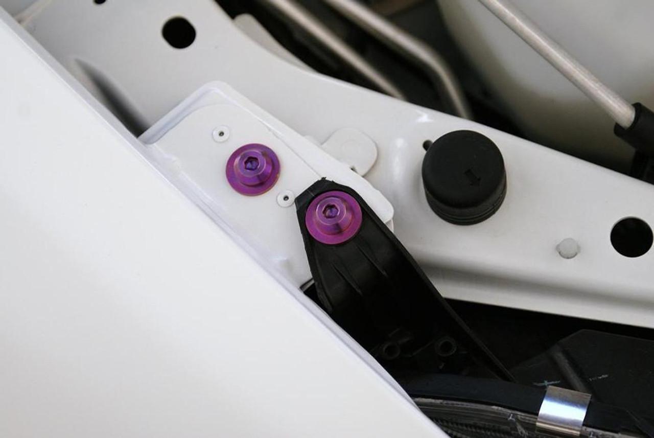 PURPLE ALUMINUM BUMPER//TRUNK QUICK RELEASE FASTENER KIT for Eclipse Lancer GS GT