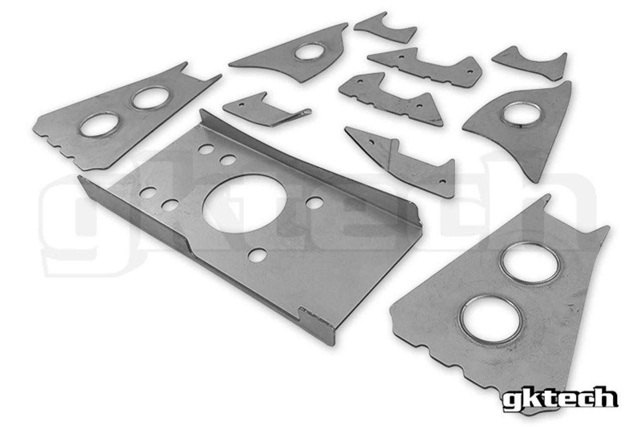 GKtech Subframe Weld in Reinforcement Plates V2 - Nissan S13
