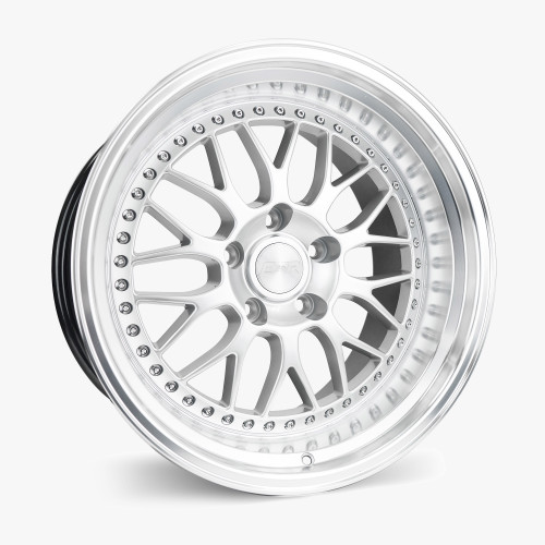 ESR Wheels SR01 19X8.5 5X110 (CUSTOM DRILL) +30 GLOSS WHITE FACE MACHINED LIP