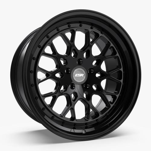 ESR Wheels CS3 19X10.5 5X112 (CUSTOM DRILL) +22 GLOSS BLACK FACE GLOSS BLACK LIP