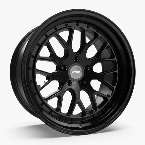 ESR Wheels CS1 19X8.5 5X120.6 (CUSTOM DRILL) +30 GLOSS BLACK FACE GLOSS BLACK LIP