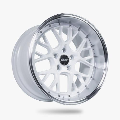 ESR Wheels CS11 19X9.5 5X108 (CUSTOM DRILL) +35 GLOSS WHITE FACE MACHINED LIP