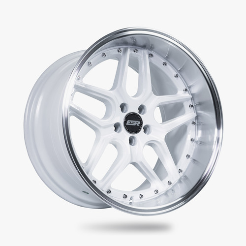 ESR Wheels CS15 18X9.5 5X120 +22 GLOSS WHITE FACE MACHINED LIP
