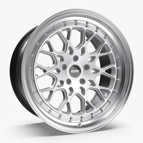 ESR Wheels CS3 19X9.5 5X115 (CUSTOM DRILL) +22 HYPER SILVER FACE MACHINED LIP