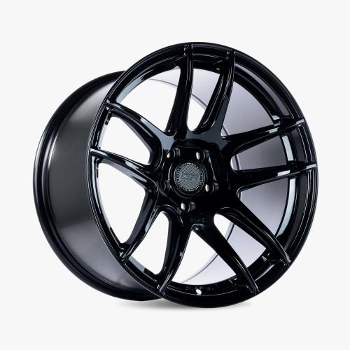 ESR Wheels CS8 18X10.5 5X114.3 +30 GLOSS BLACK FACE GLOSS BLACK LIP