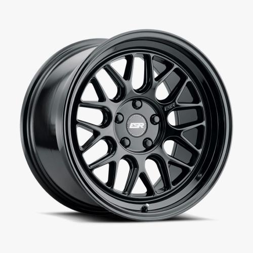 ESR Wheels CR1 18X8.5 5X112 (CUSTOM DRILL) +30 72.56 GLOSS BLACK FACE GLOSS BLACK LIP