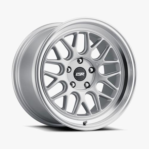 ESR Wheels CR1 18X10.5 5X105 (CUSTOM DRILL) +22 72.56 HYPER SILVER FACE MACHINED LIP