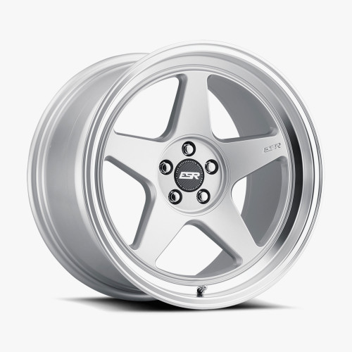 ESR Wheels CR5 18X9.5 5X120.6 (CUSTOM DRILL) +35 72.56 HYPER SILVER FACE MACHINED LIP