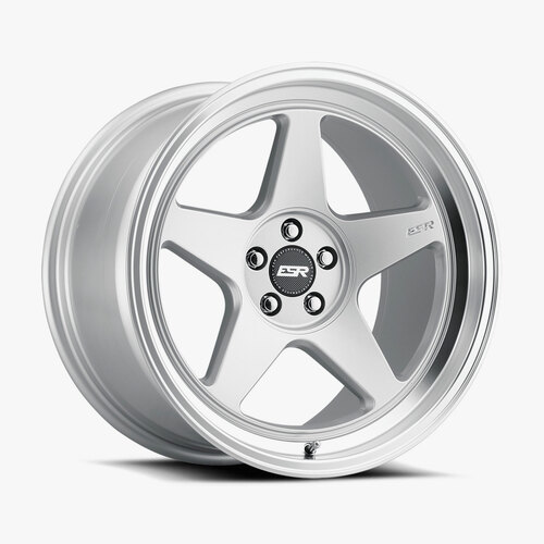 ESR Wheels CR5 19X9 5X114.3 (CUSTOM DRILL) +20 72.56 HYPER SILVER FACE MACHINED LIP