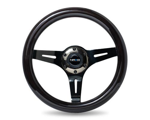 NRG 310mm Wood Grain Steering Wheel - Various Colors
