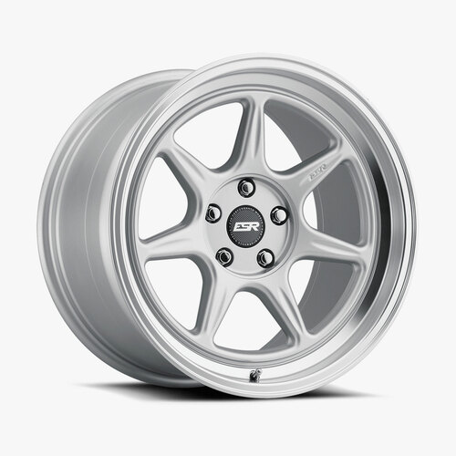 ESR Wheels CR7 18X10.5 5X115 (CUSTOM DRILL) +15 72.56 HYPER SILVER FACE MACHINED LIP