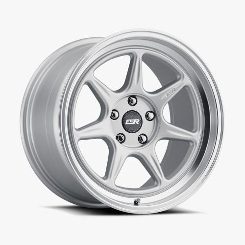 ESR Wheels CR7 19X10 5X114.3 (CUSTOM DRILL) +25 72.56 HYPER SILVER FACE MACHINED LIP
