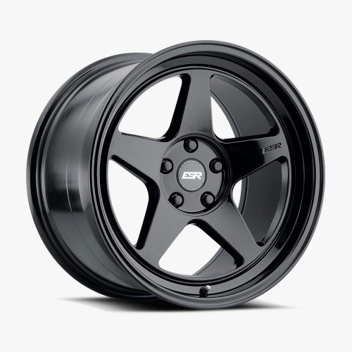 ESR Wheels CR5 18X10.5 5X108 (CUSTOM DRILL) +15 72.56 MATTE BLACK FACE GLOSS BLACK LIP