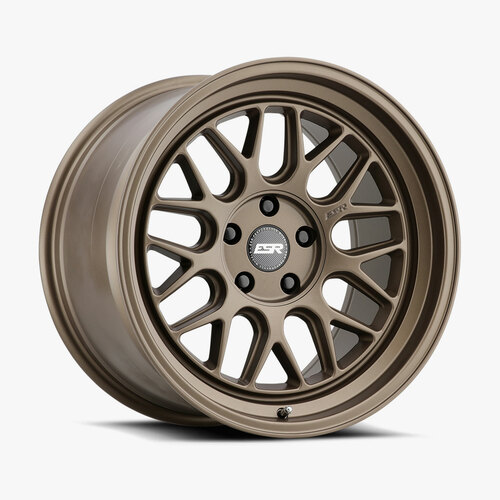 ESR Wheels CR1 18X10.5 5X115 (CUSTOM DRILL) +30 72.56 MATTE BRONZE FACE MATTE BRONZE LIP