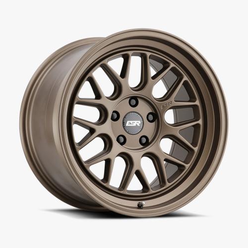 ESR Wheels CR1 18X9.5 5X115 (CUSTOM DRILL) +15 72.56 MATTE BRONZE FACE MATTE BRONZE LIP