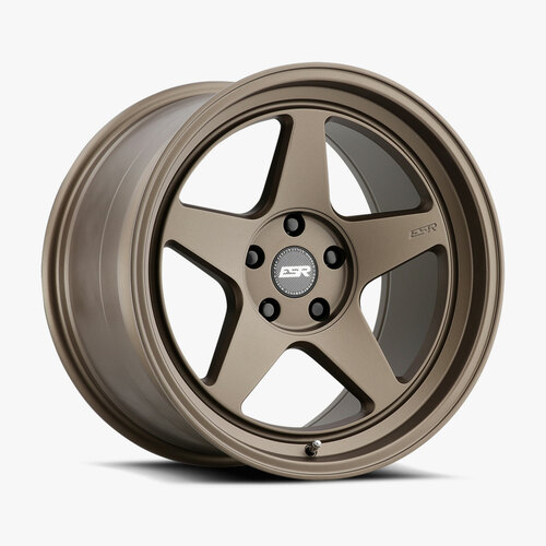 ESR Wheels CR5 18X9.5 5X115 (CUSTOM DRILL) +15 72.56 MATTE BRONZE FACE MATTE BRONZE LIP