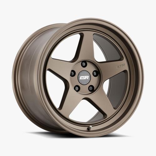 ESR Wheels CR5 18X10.5 5X120 (CUSTOM DRILL) +22 72.56 MATTE BRONZE FACE MATTE BRONZE LIP