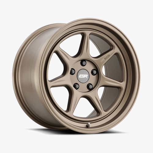 ESR Wheels CR7 18X10.5 5X114.3 +22 72.56 MATTE BRONZE FACE MATTE BRONZE LIP