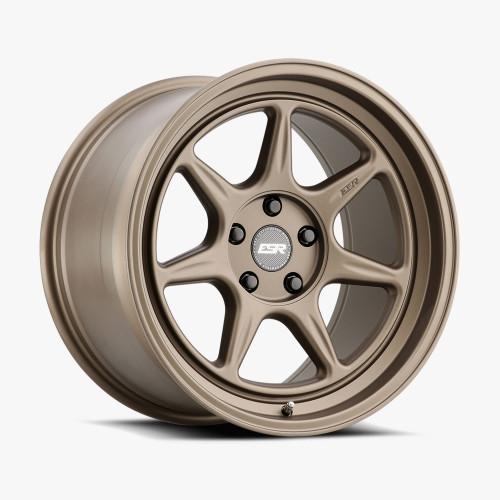 ESR Wheels CR7 18X10.5 5X115 (CUSTOM DRILL) +15 72.56 MATTE BRONZE FACE MATTE BRONZE LIP