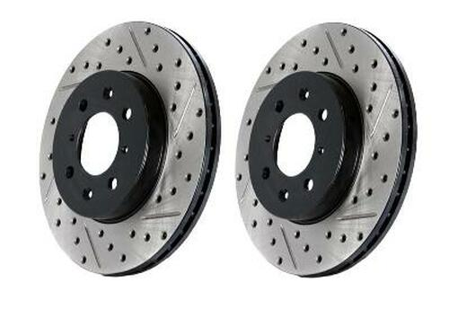 StopTech Brake Rotors - SportStop Drilled & Slotted Nissan 370Z (LEFT SIDE)