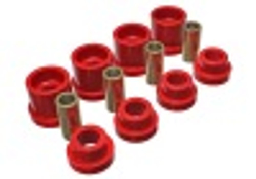 Energy Suspension 95-98 Nissan 240SX (S14) Red Rear Subframe Insert Set (Must reuse all metal parts)