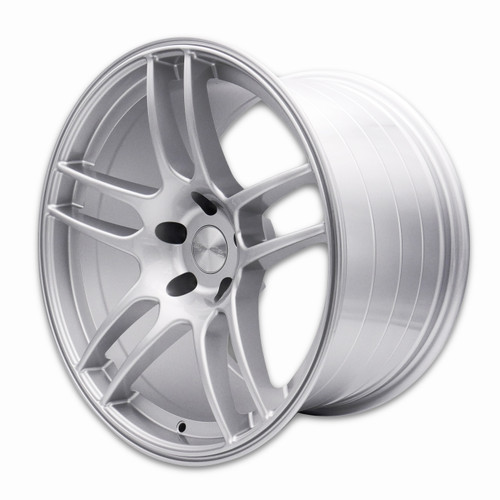 SQUARE Wheels - Flow Formed G33 R Model - 18x10.5 +15 & 18x9.5 +12 5x114.3 - Silver  (Staggered Set of 4)