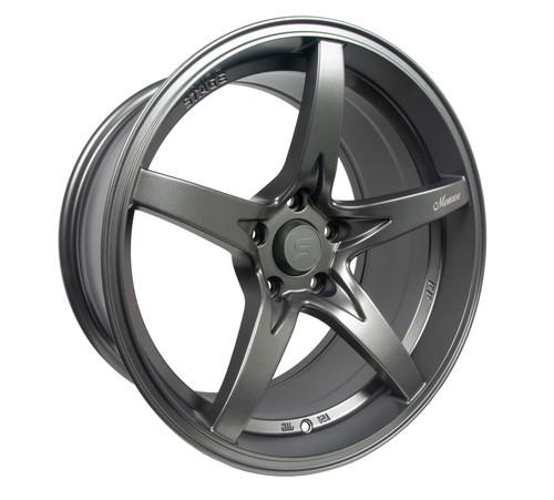 Stage Wheels Monroe 18x9 +12mm 5x114.3 CB: 73.1 Color: Matte Gun Metal