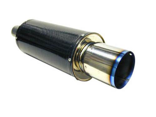 HKS [Universal] HKS Universal Carbon-Ti Muffler Universal Carbon Ti Muffler; Includes Stainless Steel Mounting Bracket