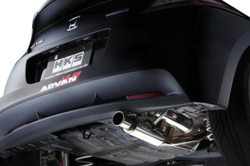 HKS CR-Z Silent Hi-Power Exhaust (2011); SUS304 rear section exhaust