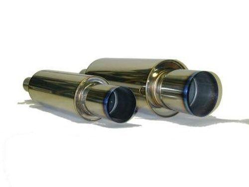 HKS [Universal] HKS Universal Stainless Hi-Power Ti Muffler 170mm Shell; 75mm Piping; 120mm Tip