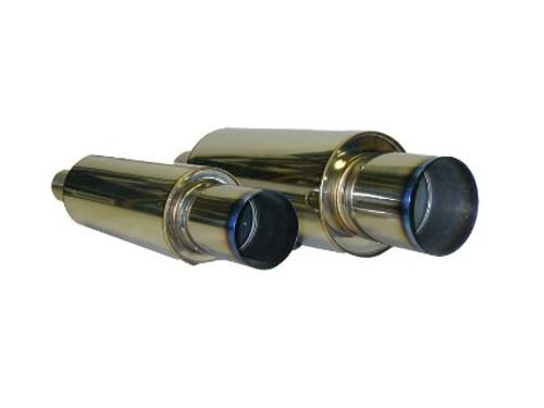 HKS [Universal] HKS Universal Stainless Hi-Power Ti Muffler Universal Stainless Hi-Power Ti Muffler