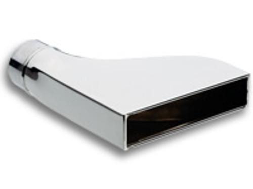 "Vibrant Performance - 7.75"" x 1.875"" Rectangular Stainless Steel Tip (Camaro Style) - 2.5""inlet"