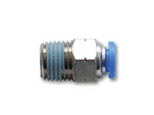 """Vibrant Performance - 6mm Male Straight One-Touch Fitting (1/4"""" NPT Thread)"""