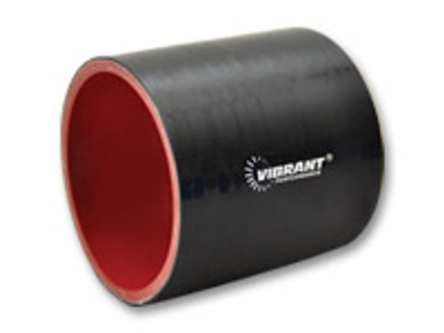 """Vibrant Performance - 4 Ply Silicone Sleeve, 5"""" I.D. x 3"""" long - Black"""