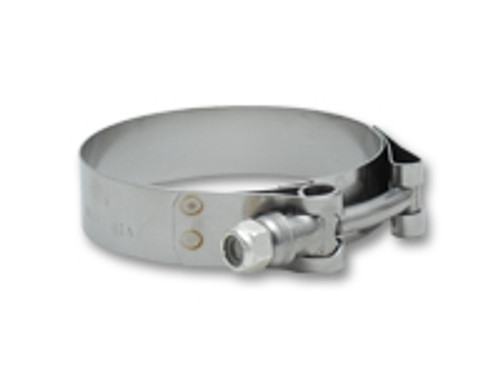 """Vibrant Performance - Stainless Steel T-Bolt Clamps (Pack of 2) - Clamp Range: 1.30""""-1.50"""""""