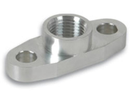 """Vibrant Performance - Aluminum Oil Flange for GT32-GT55R (Tapped - 1/2"""" NPT)"""
