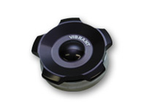 "Vibrant Performance - 2.75"" OD Aluminum Weld Bung + Black Aluminum Threaded Cap"