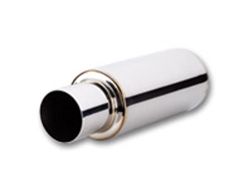 "Vibrant Performance - TPV TURBO Muffler w/ 4"" Round Straight Cut Tip (2.5"" inlet - 23"" long)"