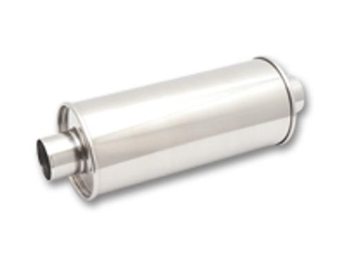 "Vibrant Performance - STREETPOWER Oval Muffler, 2.5"" inlet/outlet (Center-Center)"