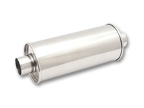 """Vibrant Performance - STREETPOWER Oval Muffler, 2.5"""" inlet (Center In - Dual Out)"""